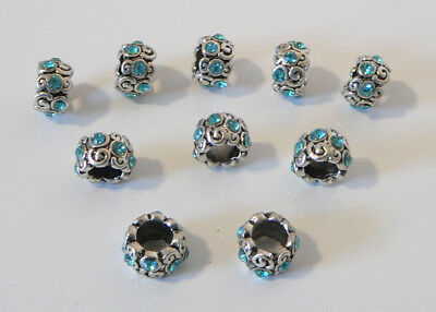 Turquoise Swirls European Style Charm Bracelet