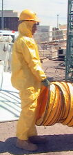 12 Hooded Yellow Hazmat Type Bunny Jump Suit Coveralls