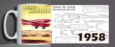 Aeromodeller Tazza Vintage Design 1958-mostra Il Titolo Originale