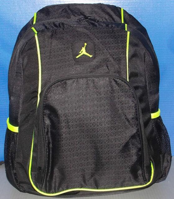 c22cf7df73 Nike Air Jordan Backpack Bag 15 Laptop Black Volt Green Men Women Boys Girls