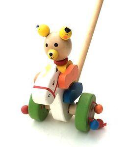Ziehtier Bär Holzspielzeug