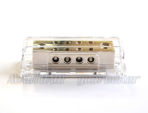 Power Distribution Block 0//2 Gauge to 8X 8 Gauge for Car Audio Install PD15N