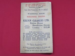 Professional Sale Kelvin Cleaners Laundry Book C1954 Furniture 1900-1950
