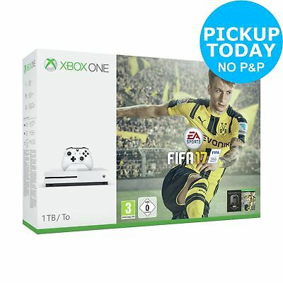 Microsoft Xbox One S 1TB Console with FIFA 17 Bundle - White
