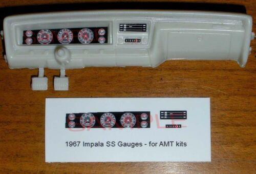 1967 IMPALA SUPER SPORT GAUGE FACES for 1//25 scale AMT KITS