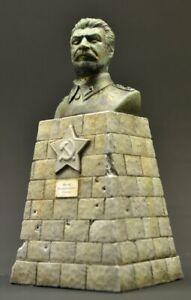 DioDump-DD158-Stalin-bust-on-base-1-35-scale-plaster-diorama-accessory