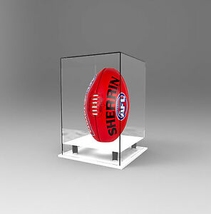 85fa06f7 Details about Football / AFL Display Case Deluxe Acrylic Perspex - Upright  /Vertical - WHITE