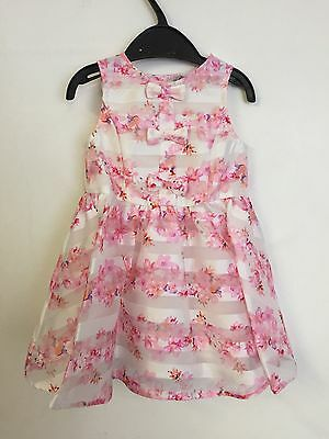 Girls Dress Kids Baby Party Wedding Formal Bridesmaid 9mth-6years Ex Chainstore