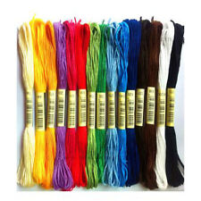 100 Different Colors Cross Stitch Floss Cotton Thread Embroidery Sewing Skeins A