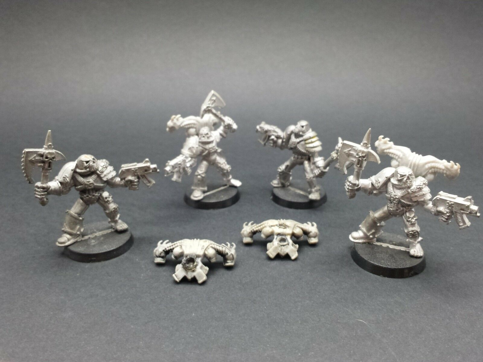 Warhammer 40k Vintage Chaos spazio Marines WorldEaters METAL  miniatures OOP RARE  Sconto del 70%