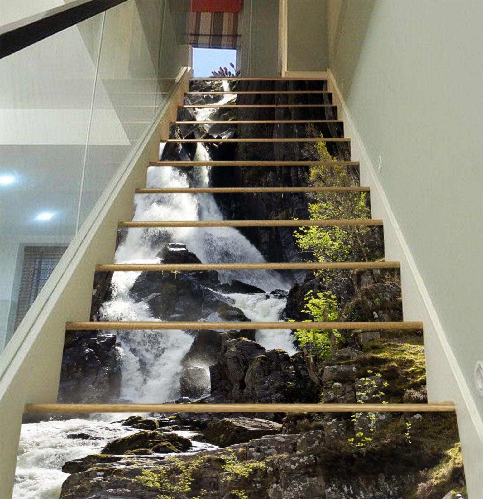 3D Stream Hills 16 ALZATE Decorazione Murale Foto Carta Da Parati in Vinile Decalcomania UK