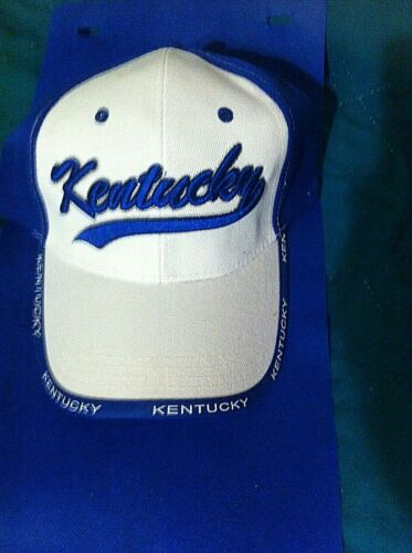 Kentucky Embroidered Blue One Size Adjustable Baseball Ball Cap Hat