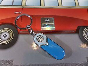 VW Samba-Bus VOLKSWAGEN Schlüsselanhänger NEU+OVP blau-beige