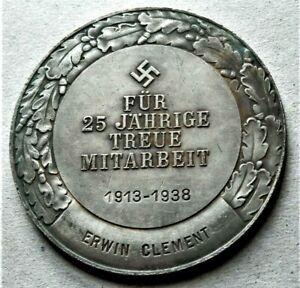 WW2-GERMAN-COMMEMORATIVE-COLLECTORS-COIN-1913-1938-DEUTSCHE-BANK