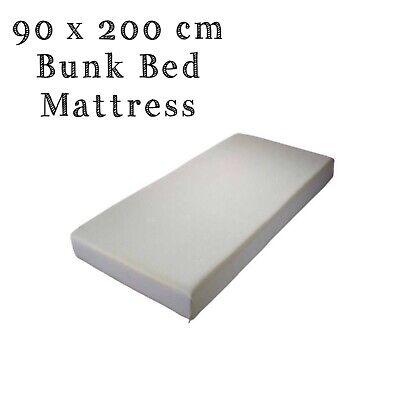 2 X 80cm x 200cm Bunk Bed Reflex Foam Mattress Washable zip cover 10cm Deep