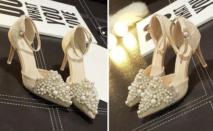 Décollte Schuhe decolte Sandaleei gioiello 9.5 cm stiletto spillo albicocca 8629