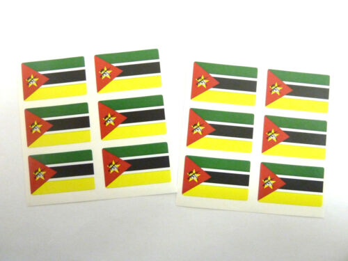 Self-Adhesive Mozambique Flag Labels FR188 Mini Sticker Pack