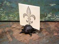 Cast Iron Black Ladybug Photo Place Card Anytime Party Holder Home Table Decor