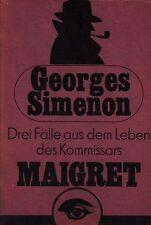 *~ Drei FÄLLE aus dem LEBEN des Kommissars MAIGRET - Georges SIMENON  tb (1989)