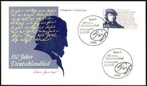 Rfa-1991-Deutschlandlied-FDC-Le-No-1555-Avec-Bonner-Sonderstempeln-20-06