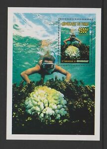 Chad - 1996, Greenpeace, Diving Blatt - MNH