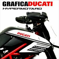 KIT ADESIVI DECAL STICKERS DUCATI HYPERMOTARD 796 1100 EVO CARENA GRAFICA NERO