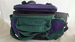 Sun Trace Fanny Pack Bag Green Purple Zipper Vintage Camping Hiking