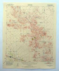 Topo Map Of Arizona.San Simon Arizona Vintage Usgs Topo Map 1950 Peloncillo Mountains Ebay
