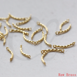 Link 100 Pieces Raw Brass Connector 3361C-L-129 Bar 13x1.2mm