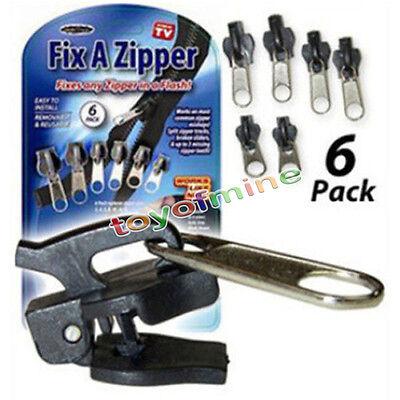 6Pcs Fix A Zipper Zip Slider Rescue Instant Repair Kit Replacement AS SEEN ON TV