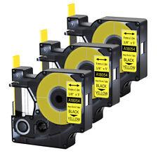 3pk For Dymo Rhino 42005200 Heat Shrink Tube 18054 Industry Label Tape 38x5