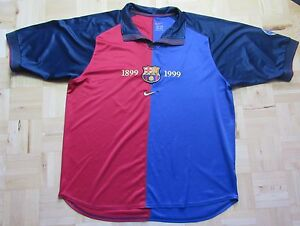 d4337b9fcd7 BARCA 1999-2000 Nike FC Barcelona 100 years HOME shirt Spanish ...