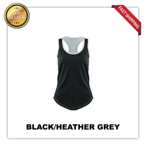 Womens BLANK Yoga SPORTS  Tank Top Racerback Ribbed 1534 2 COLOR Next LeveL