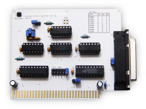 Assembled Tested /& Working Lo-tech MIF IPC B for 8//16-Bit ISA!
