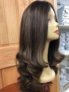 Malky Wig Sheitel 100 European Kosher Human Hair Medium Brown
