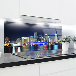 Küchenrückwand aus gehärtetem Glas 125x50 cm Glaspaneel  Fliesenspiegel