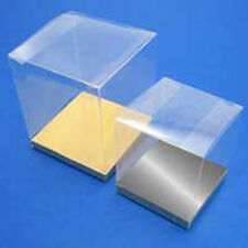 35 Bomboniere favour clear Big LARGE wedding gift PVC box 10cm Promotion Product