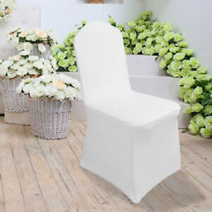 Amazing Details About Chair Covers Set Of 100Pcs White Spandex Banquet Wedding Party Lycra Chair Cover Andrewgaddart Wooden Chair Designs For Living Room Andrewgaddartcom