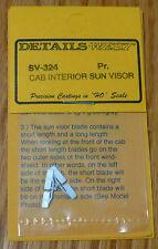 Details West HO #324 Cab Interior -- Sun Visor