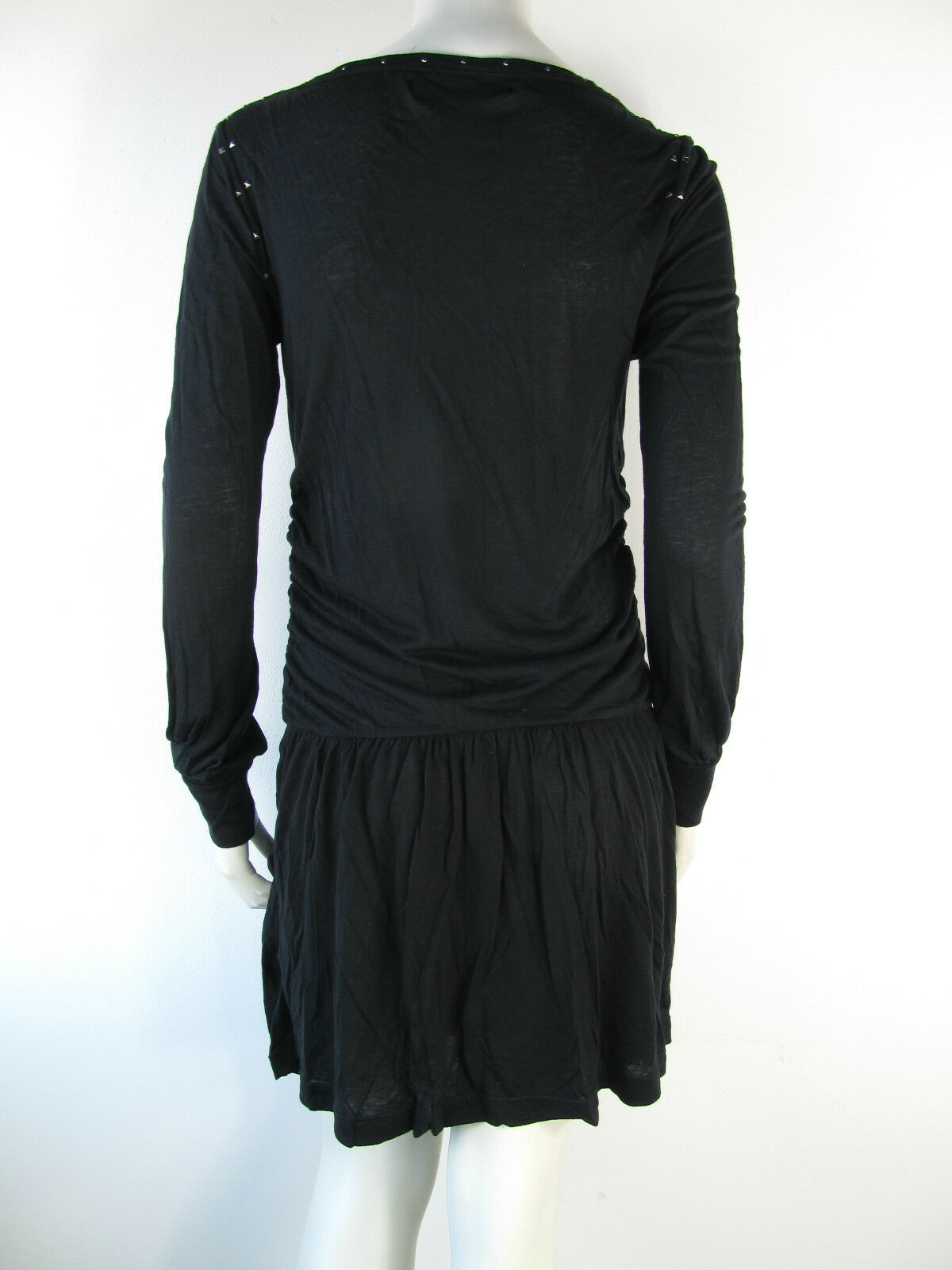 Replay Kleed Kleid Dress Jurk Jurk Jurk W9632 Nieten black Neu S be23f4