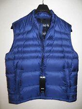 NEW $395 HUGO BOSS Real Down Puffy Vest Men Blu  Size 44 R US