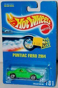Hot-Wheels-Fiero-2M4-Pontiac-UH-039-s-Blue-Card-Collector-181-Malaysia-1992