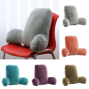 Soft Reading Pillow Back Rest Lumbar Support Arm Seat Cushion Lounger Relax UK
