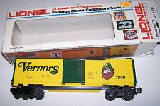 LIONEL 6-7809 VERNORS SODA O-27 Gauge Refrigerator Reefer Car with Original Box