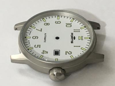 KöStlich Fortis Flieger Gents Watch Case Set,s/steel,white Dial,date.(d-7) FüR Schnellen Versand