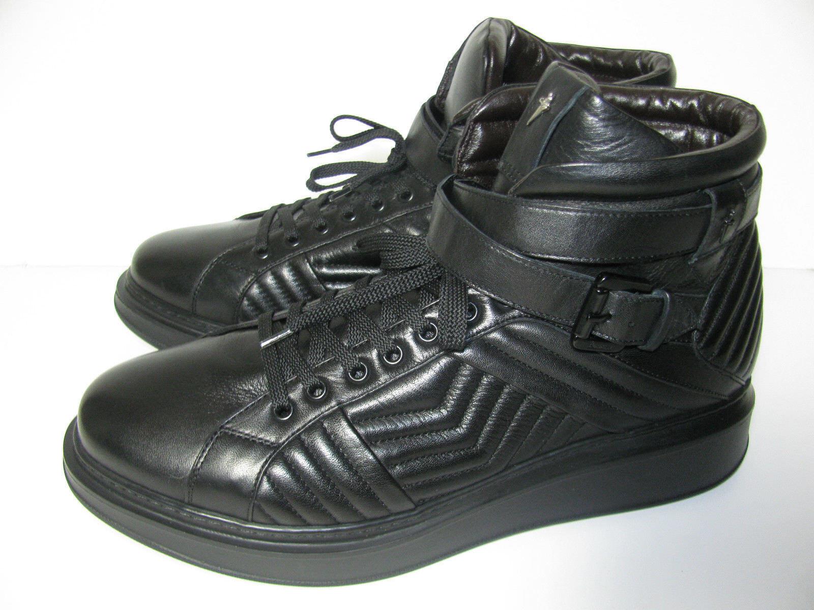 CESARE PACIOTTI Gesteppte Leder High Top Sneakers Sneakers Sneakers Stiefel Stiefel Gr.8,5/42,5 Neu c67844