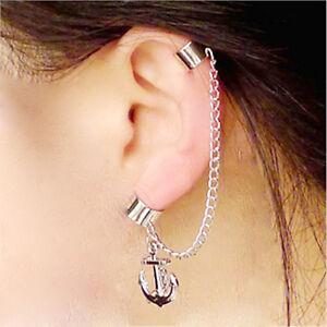 Image Is Loading Anchor Clip Earring Women No Ear Hole Earrings