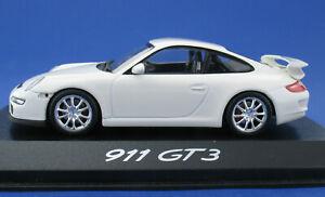 Minichamps-Porsche-911-gt3-blanco-1-43-en-OVP-box-wap02012016-Model-Car