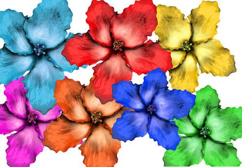 Hibiscus 016 Hibiscus Flower Hawaii Car Sticker Flower Sticker Flower Power