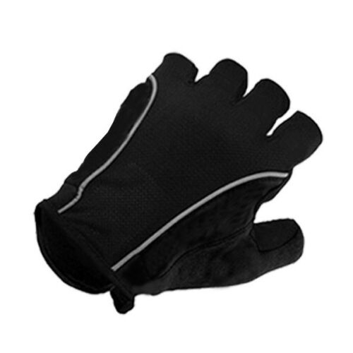 UK Caste..i Gloves Fingerless Half Finger Cycle Mitts Silicone//GLE